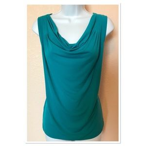 Calvin Klein Teal Cowl Neck Sleeveless Top XL